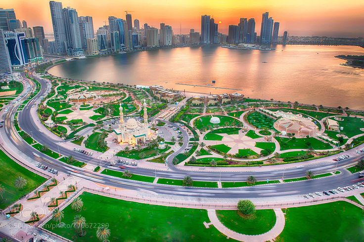 Sharjah corniche by PrinceAnis. @go4fotos