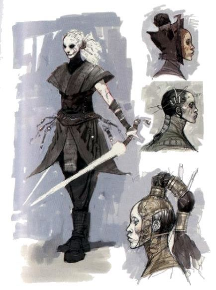 Sith Assassin Asajj Ventress concept art