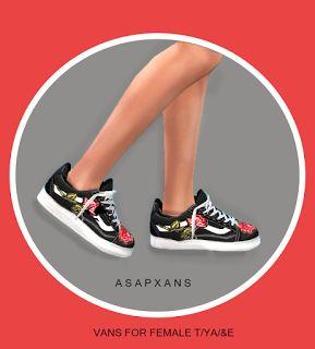 AsapXanax Sims 4 CC Xanax Van Short Sneakers