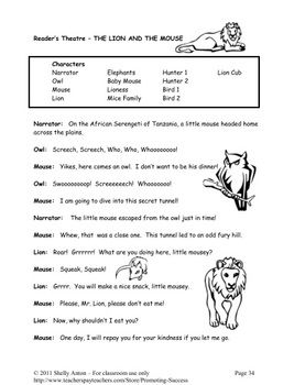 guided reading lion and the mouse no prep print and go lit lion and mouse pinterest lion. Black Bedroom Furniture Sets. Home Design Ideas