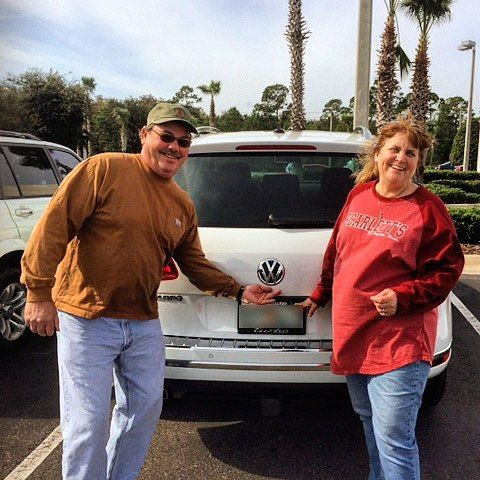 "#regram from @fieldsvw - ""Congratulations to Scott and Sandy who just traded in their 2013 VW CC for a brand new 2016 VW Touareg! Thanks for making your family part of the Fields VW family Scott and Sandy! #FieldsVW #Daytona #DaytonaBeach #FieldsVolkswagen #newcar #newVW #VWOwners"" #FieldsCollision #Fields CollisionCenter #Fields #Collision #Center #DaytonaBeach #Florida"