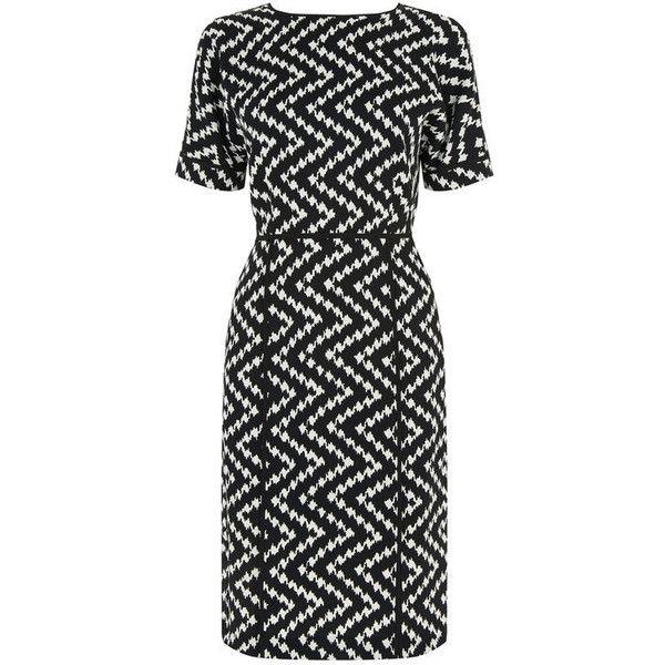 Warehouse Warehouse Zig Zag Dress Size 10 ($16) ❤ liked on Polyvore featuring dresses, zig zag dresses, warehouse dresses, pattern dress, zig zag print dress and mixed print dress