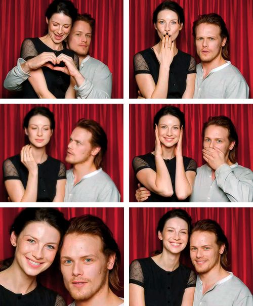 Sam Heughan and Caitriona Balfe being the beautiful people that they are!