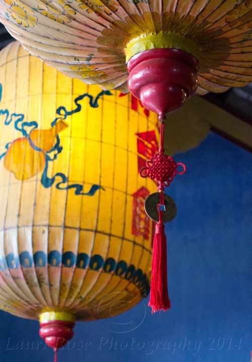 Limited Edition Photograph by Lauri Dunn. Bright Orange Lanterns, Hoi An, Vietnam