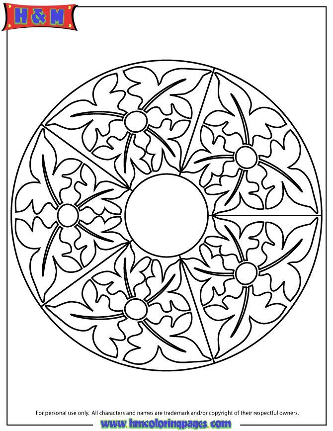 Abstract Mandala Pattern Coloring Page
