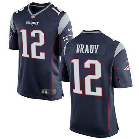 Represent your favorite team and player anytime in the NFL® Nike Tom Brady Game Jersey from Nike®. Inspired by what he's wearing on the field, the Game jersey features the name and the number. Buy your New England Patriots Tom Brady Navy Blue Jersey from the official shop of the NFL®.  Features      100% recycled polyester     NFL® jersey     Screenprinted player name and number     Tailored fit designed for movement     No-tag neck label offers clean comfort     Strategic ventilation for…