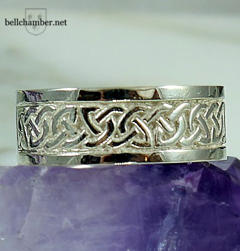 Classic White Gold Celtic Interlace ring.  14K and 8mm wide.  Regular Price $895 USD