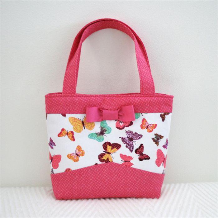 Mini Tote Bag - Butterflies | Vicki Elle | madeit.com.au
