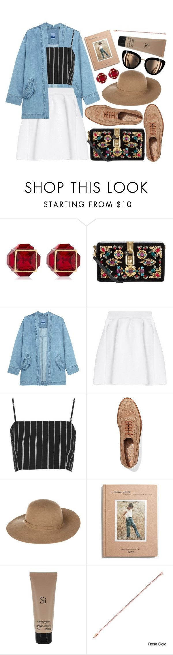 """Outfit (casual) #48"" by tayscutts ❤ liked on Polyvore featuring Vita Fede, Dolce&Gabbana, Steve J & Yoni P, malo, Tod's, Armani Jeans, Madewell, Giorgio Armani and Isla Simone"