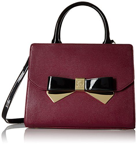 Anne Klein Lust Worthy Satchel Bag, Bordeaux/Black, One Size Anne Klein http://smile.amazon.com/dp/B016A80MOY/ref=cm_sw_r_pi_dp_mw-zwb1PCGDGX