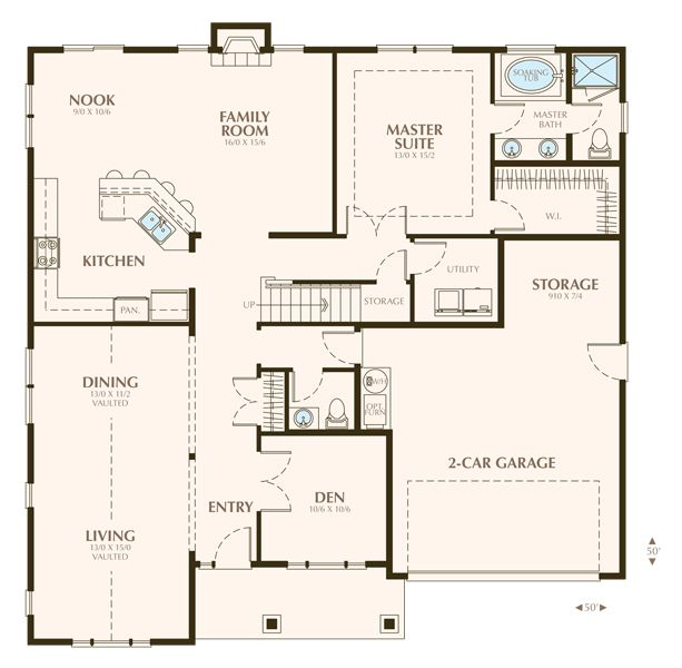 virtual great room floor plan stanbrooke custom homes home construction custom floor plans - Custom Floor Plans