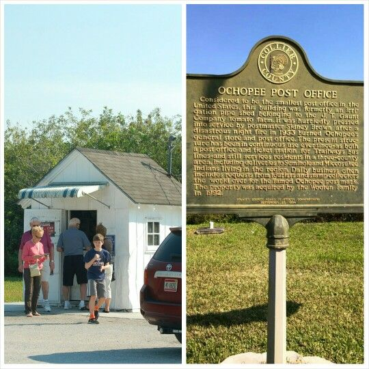 Smallest United States Post Office, Ochopee, Florida or better known as 34141