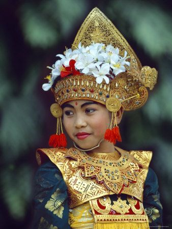 Young Balinese Dancer in Traditional Costume, Bali, Indonesia