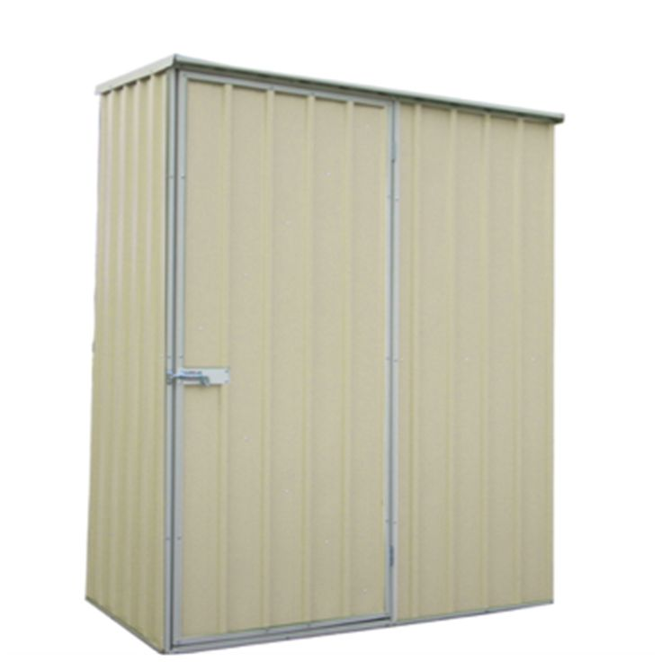 qiq fix 15 x 08 x 19m cream garden shed