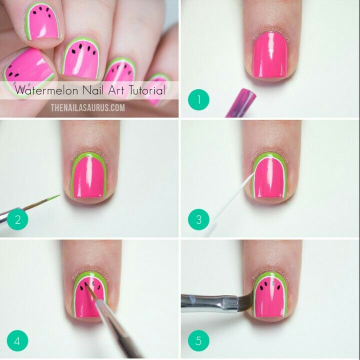 54 best nail art step by step images on pinterest nail scissors grafika nails watermelon and nail art prinsesfo Gallery