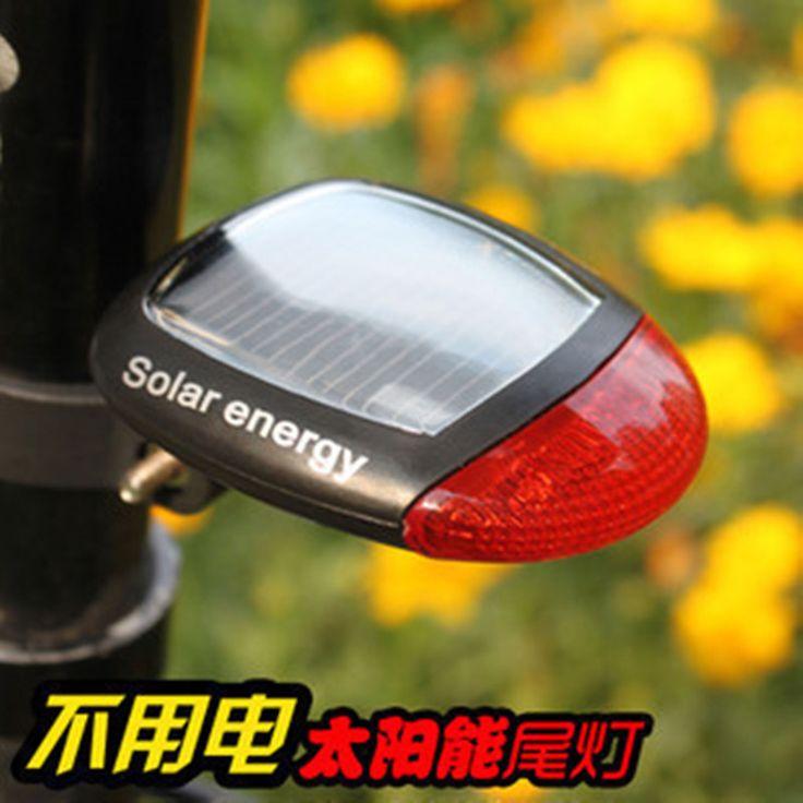 Велосипед Солнечный фонарик на горном велосипеде Предупреждение Вспышка верховой езды Ночная прогулка без перезарядки оборудования для верховой езды - Taobao