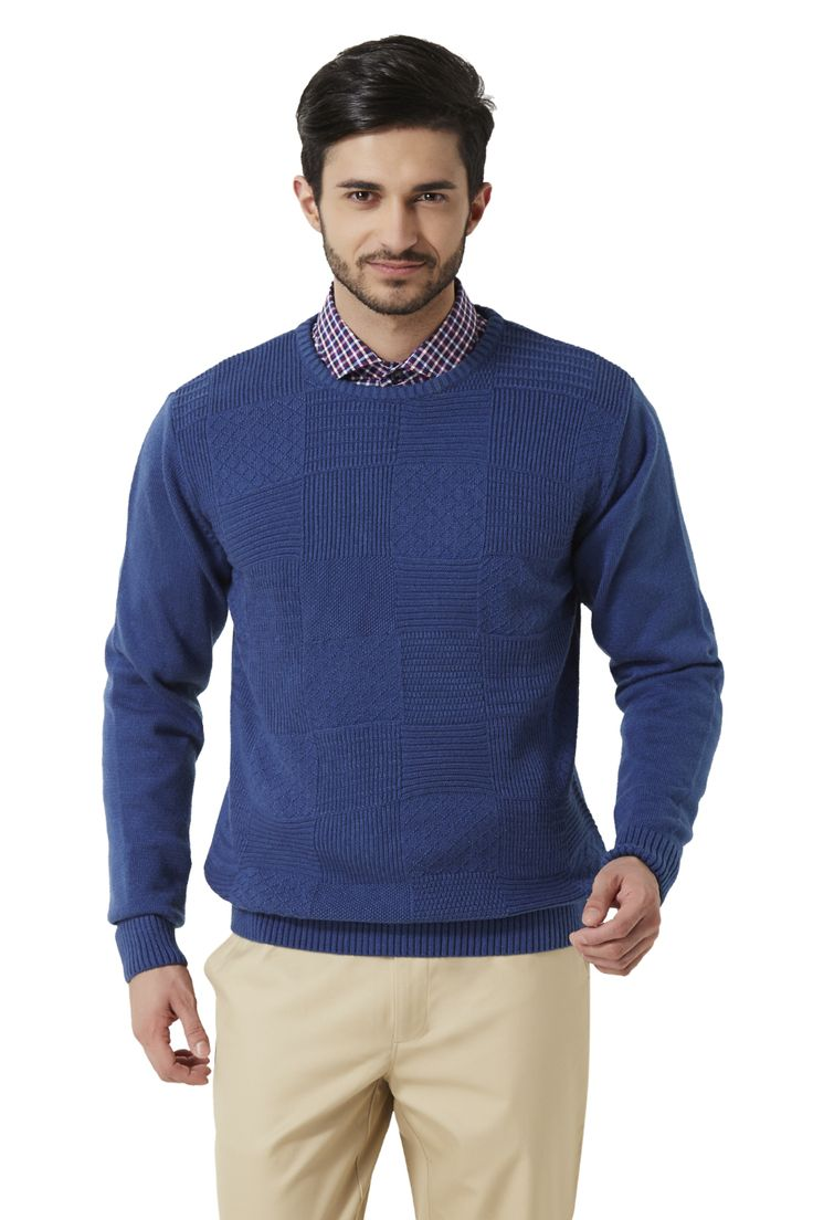 Peter England Blue Sweater - 1330