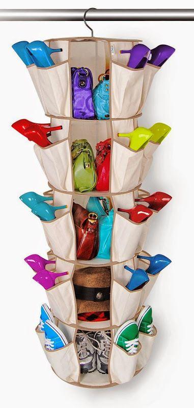 Висячий органайзер для обуви в шкаф. .