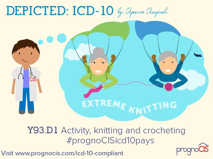 ICD-10 Humor: Activity, knitting and crocheting