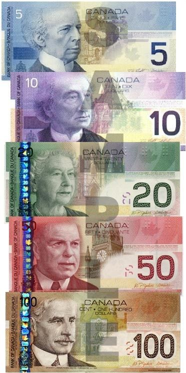 No way to get our money denominations mixed up unless you are colour blind!