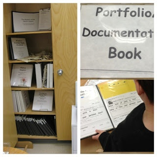 Come and take a look at a sample of documentation from color inquiry that will be inserted into student portfolios.
