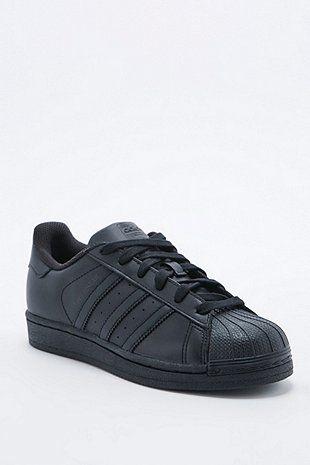 adidas Originals Superstar All Black Trainer