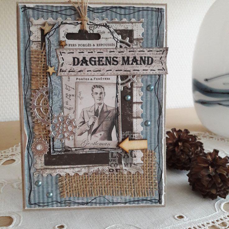 Maskuline kort med Maja Design.     Kassen med kort var gabende tom i hvert fald af den maskuline slags.Ogdet måtte der jo gøres noget ...