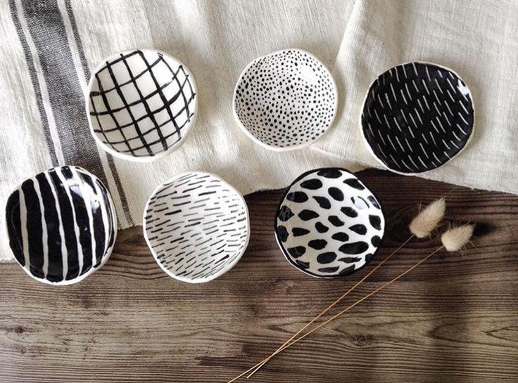 Painted ceramic bowls Makerie Ceramics Auckland, New Zealand Www.makerieceramics.com