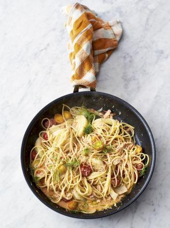 Crab & fennel spaghetti - Jamie Oliver
