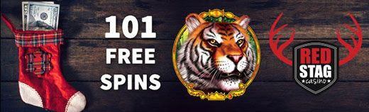 Red Stag Casino Christmas Offer 101 FREE Spins