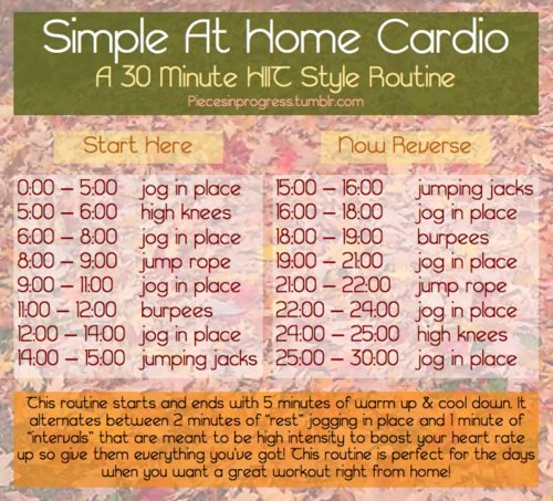 Simple At Home Cardio A 30 Minute HIIT Style Routine Classes Have Been Extra Busy Recently And I Just Didnt The Time To Get Myself Down Gym