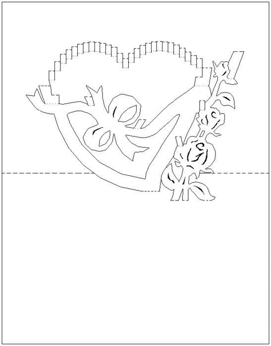 Схемы киригами открытки, александра