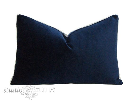 Midnight Blue Velvet Pillow Cover 11x21 Special Lumbar Ready To Ship Navy Blue Blue Velvet Pindler Velvet Legacy Velvet Pillows Blue Velvet Midnight Blue