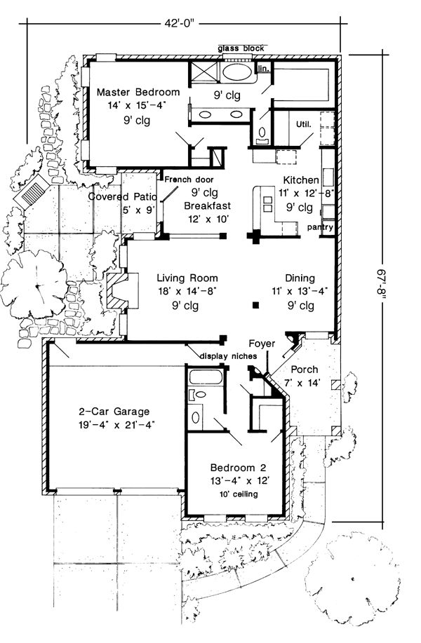 73 best slab plans images on pinterest | traditional house plans