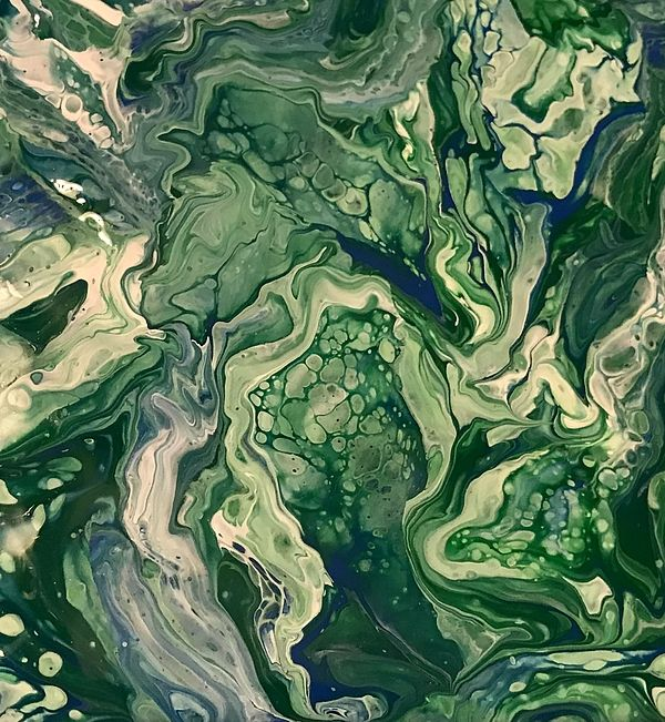 Earth Contouring Painting by Jessica Moore