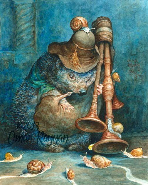 Serenading the Snails medium size print by StudioRayyan on Etsy, $25.00