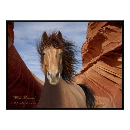"""""""Wind Runner"""", Wild Stallion Poster Print"""