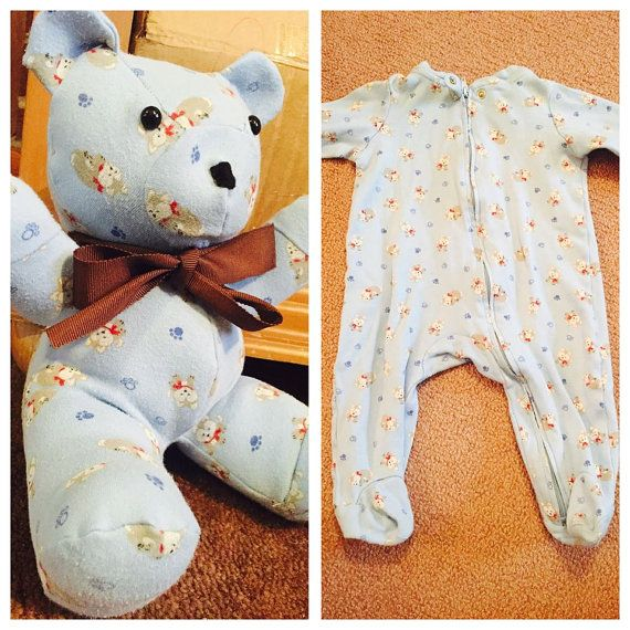 Hey, I found this really awesome Etsy listing at https://www.etsy.com/listing/224212814/keepsake-memory-stuffed-bear-made-from