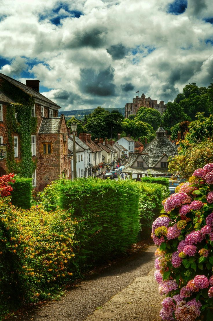~~Dunster High Street.... | Yarn Market and the castle in the distance, Somerset, England, UK | by Jenny Parry~~
