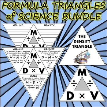 These are ALL of my Formula Triangle foldables in one bundle! Buying them all together gives you a 20% Discount off! Don't miss out!Density, Force, Work, Acceleration, and Speed! Each set includes the completed foldable, the blank foldable, and the clipart of the triangle.(The work triangle is not pictured, but is included!)If you prefer to buy one or some, here are all of the Triangles as individual products:ACCELERATIONAcceleration Triangle ClipartAcceleration Triangle Blank…