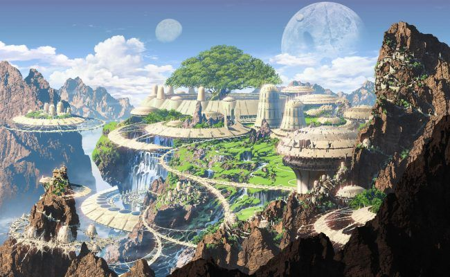Download Sci Fi City Ultra Hd 4k Wallpaper For Desktop Mobile Phones Wallpapers Find Fantasy Landscape Fantasy City Fantasy Concept Art