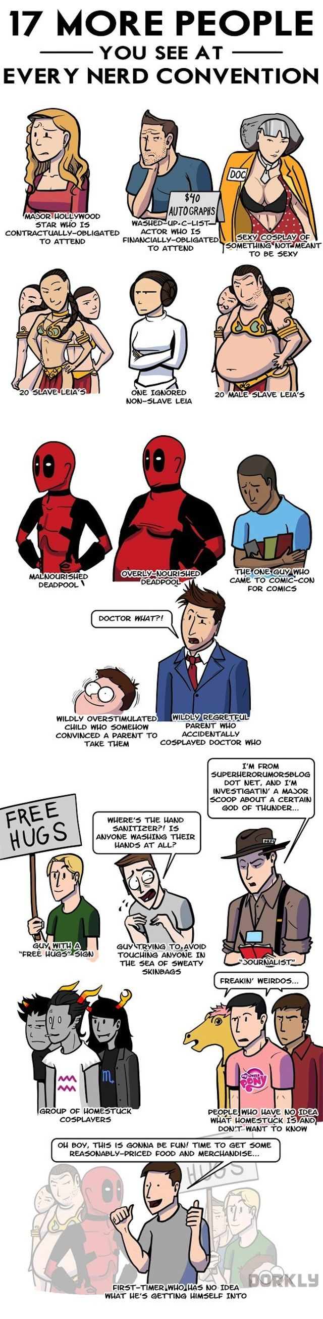 The 17 types of people you see at any nerd convention (infographic)