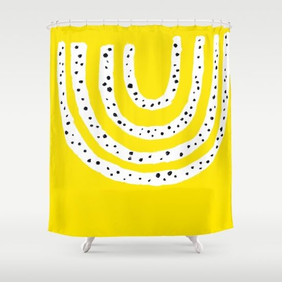 MELLOW YELLOW Shower Curtain by Ashley Mary Art + Design | Society6