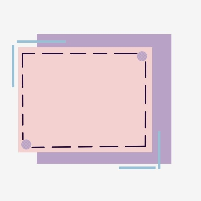 Square Transparent Cute Borders