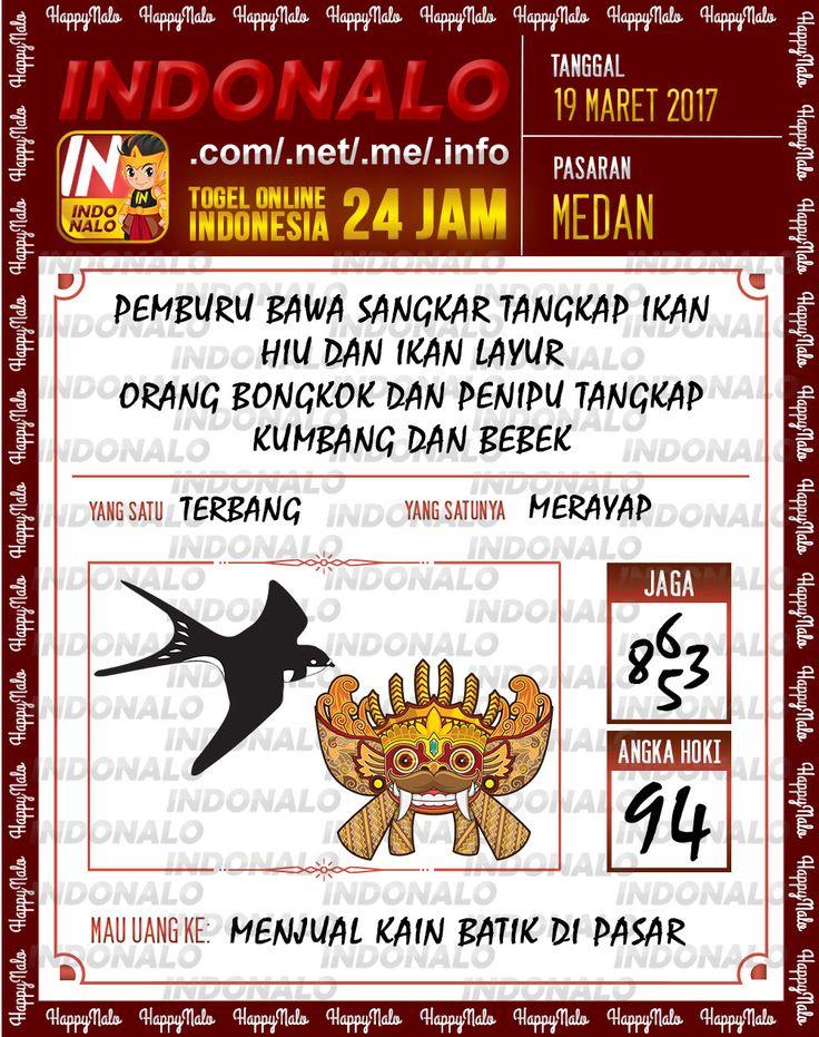 Angka Kuat 3D Togel Wap Online Indonalo Medan 19 Maret 2017