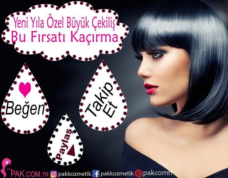Yılbaşına Özel Çekiliş ve Sürpriz pak.com.tr de sizleri bekliyor #kozmetik #indirim #pakkozmetik #pakcomtr #hediye #makeup