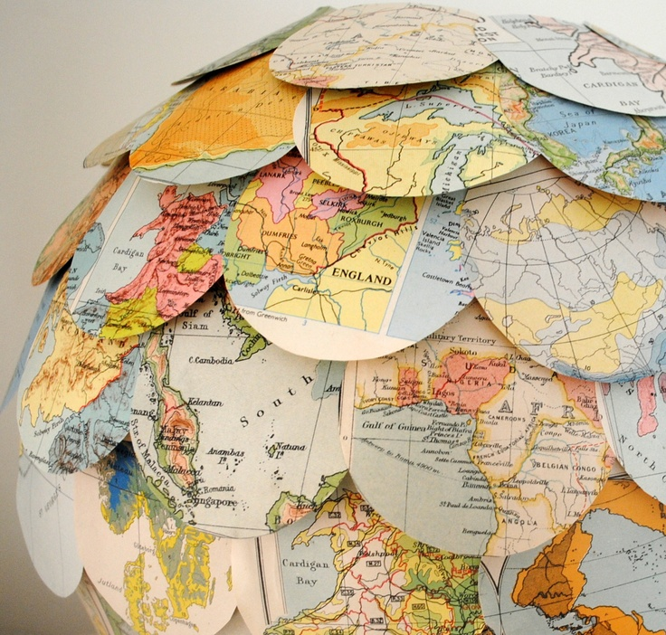 paper globe pendant hallway lighting. Random World Trip Lamp Shade Vintage Map Hanging Pendant Lighting Eco Home - Image 1 Paper Globe Hallway