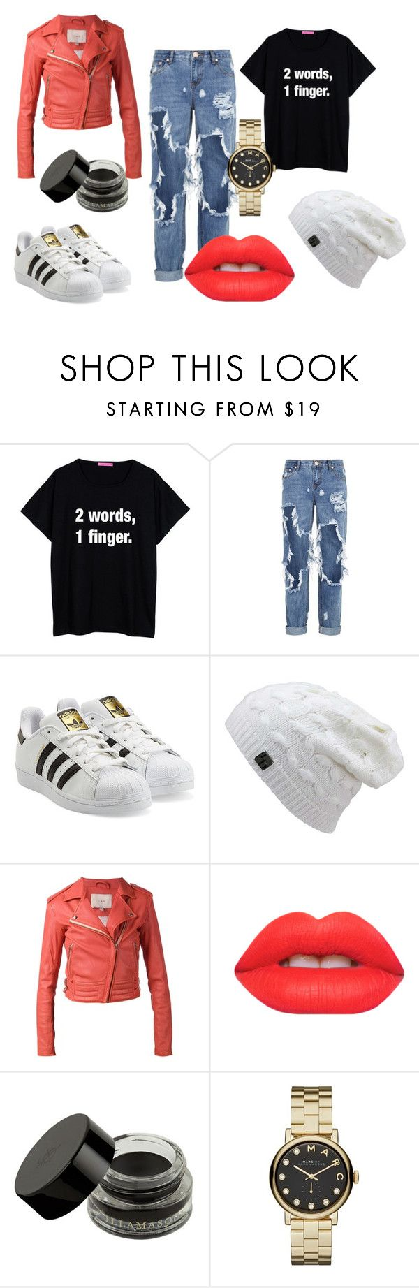 hood by raluca-belu on Polyvore featuring IRO, adidas Originals, One Teaspoon, Marc by Marc Jacobs and Lime Crime