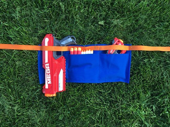 Bullet Belt - Nerf Accessory - Holder - Party Favor - Holster - Youth Size