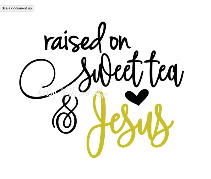 Raised on Sweet Tea and Jesus svg, Jesus quote svg CUT file, trendy cute svg for Silhouette Cameo or Cricut, Christian t-shirt svg DIY idea by SvgArtsyWallsAndMore on Etsy